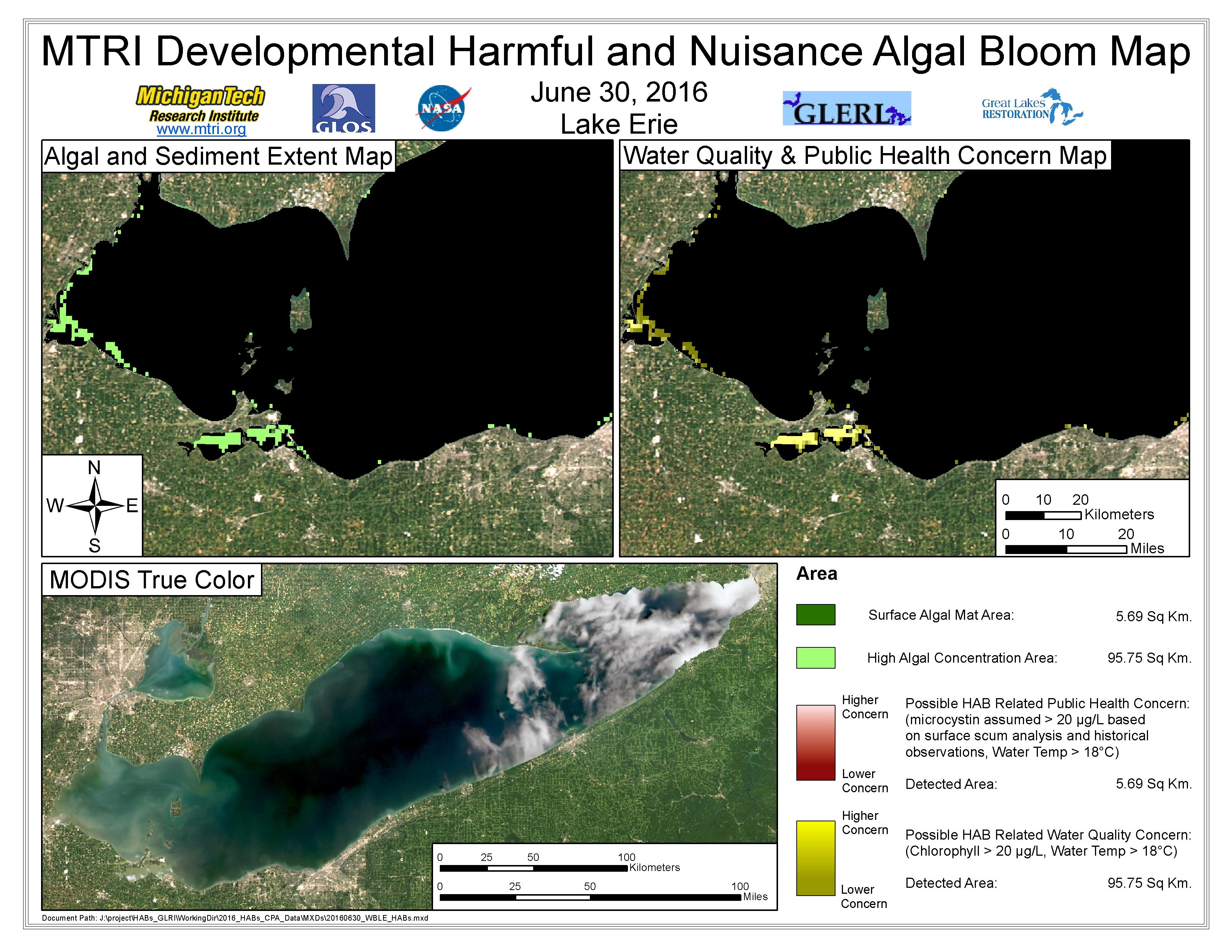 MODIS Aqua retrieval June 30, 2016