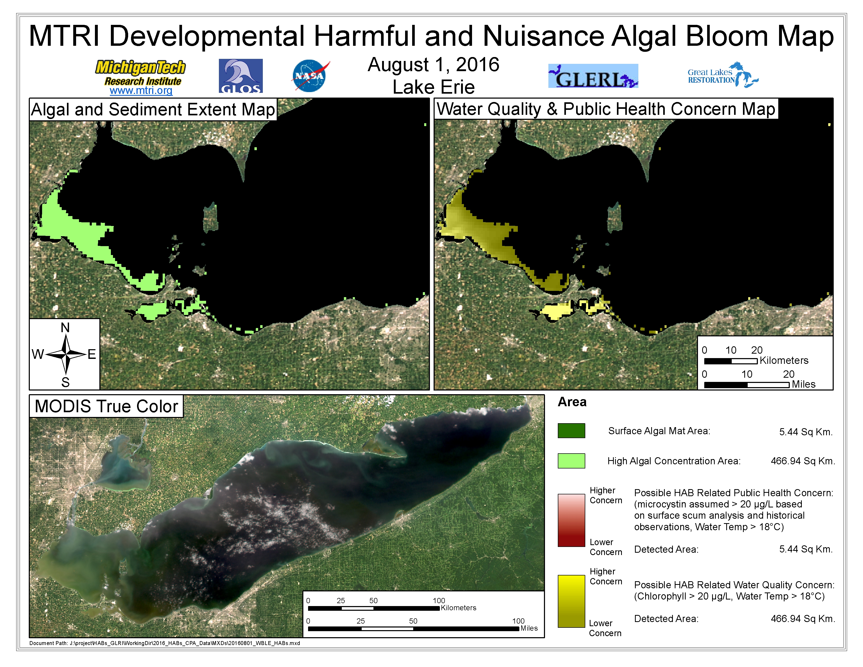 MODIS Aqua retrieval August 1, 2016