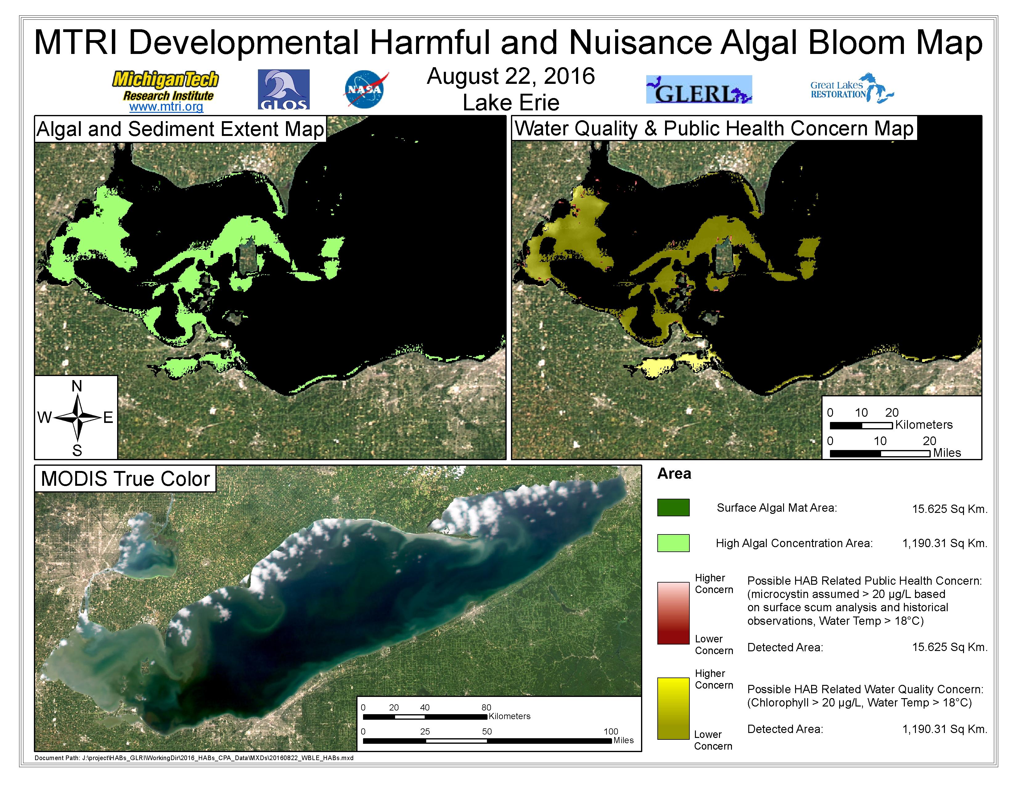 MODIS Aqua retrieval August 22, 2016