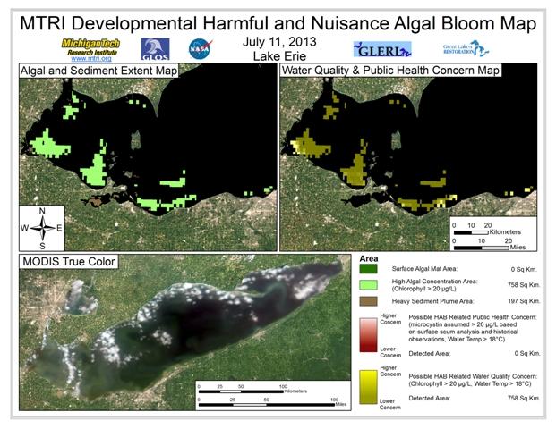 MODIS Aqua retrieval form July 11, 2013