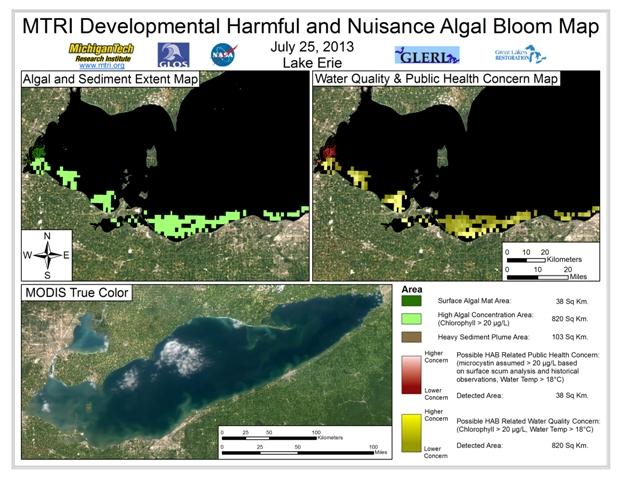 MODIS Aqua retrieval form July 25, 2013