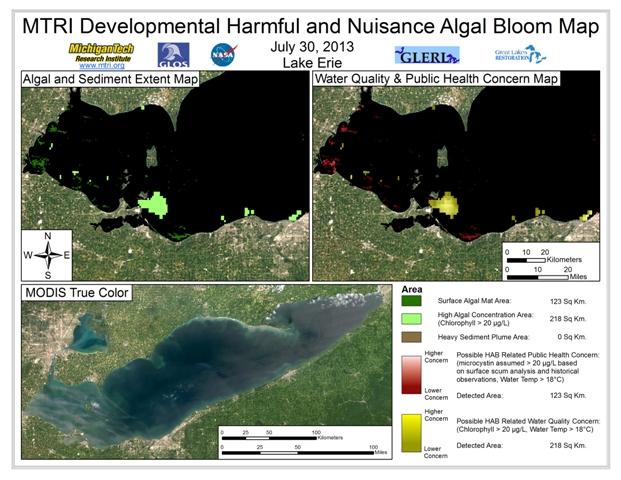 MODIS Aqua retrieval form July 30, 2013