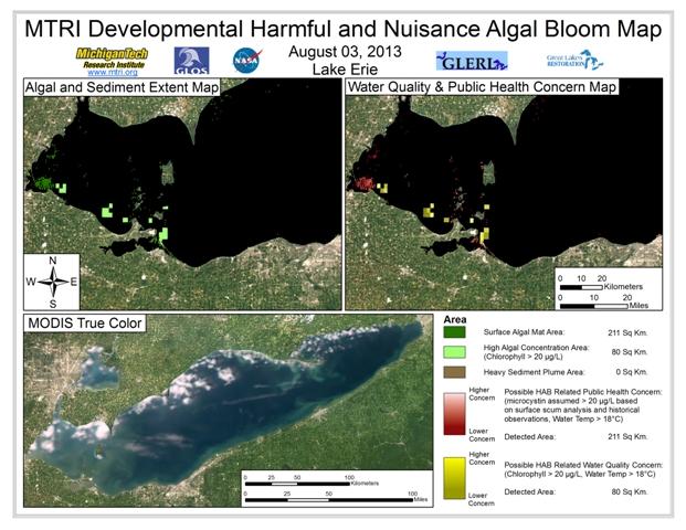 MODIS Aqua retrieval form August 3, 2013