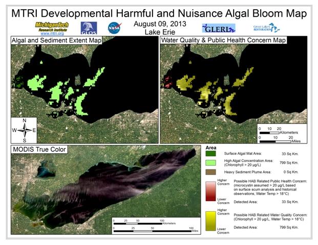 MODIS Aqua retrieval form August 9, 2013.