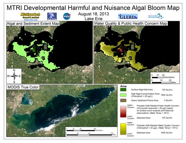 MODIS Aqua retrieval from August 18, 2013