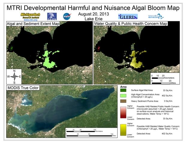 MODIS Aqua retrieval form August 20, 2013