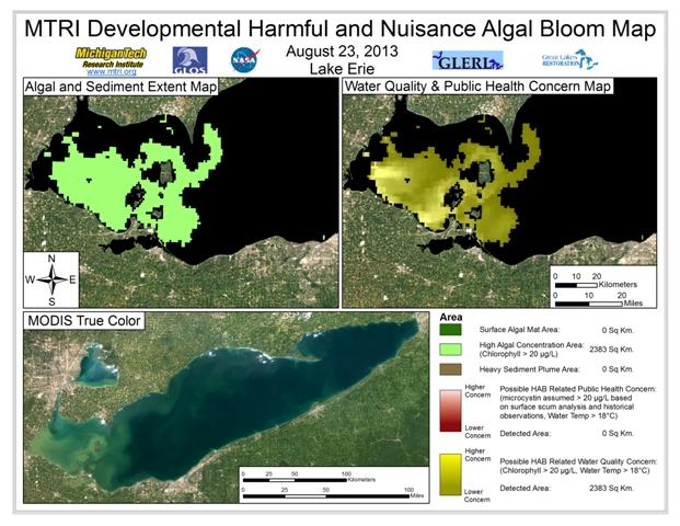MODIS Aqua retrieval form August 23, 2013
