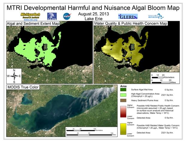 MODIS Aqua retrieval from August 25, 2013