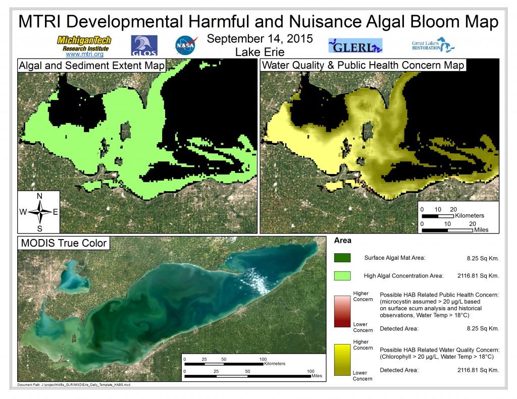 MODIS Aqua retrieval September 14, 2015