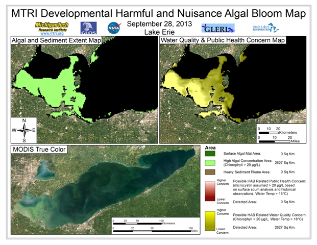 MODIS Aqua retrieval from September 28, 2013.