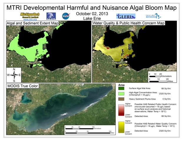 MODIS Aqua retrieval form October 2, 2013.