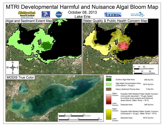 MODIS Aqua retrieval from October 8, 2013.