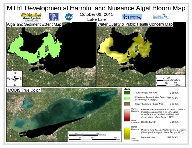 MODIS Aqua retrieval from October 9, 2013
