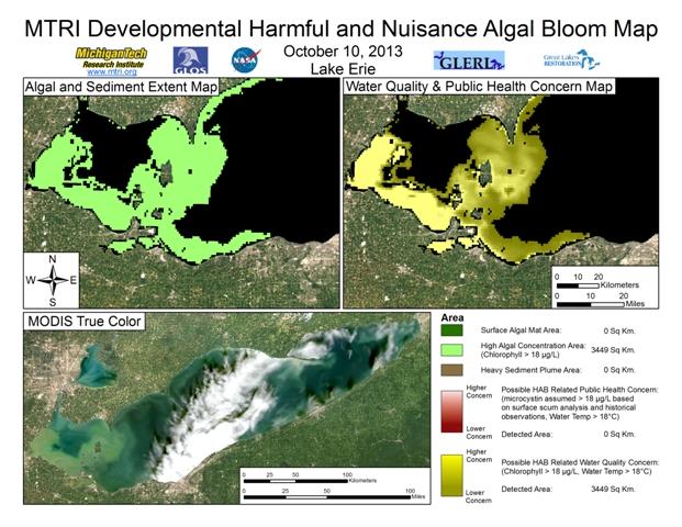 MODIS Aqua retrieval from October 10, 2013.