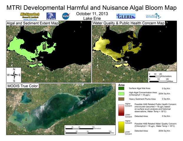 MODIS Aqua retrieval from October 11, 2013.
