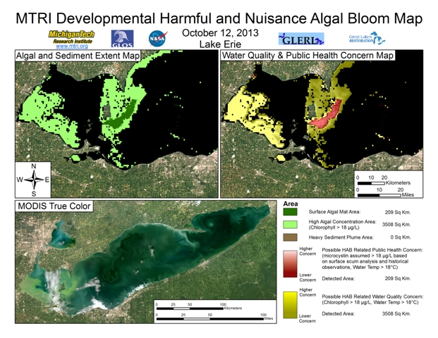 MODIS Aqua retrieval from October 12, 2013.