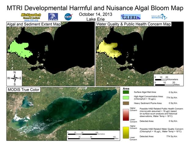 MODIS Aqua retrieval from October 14, 2013.