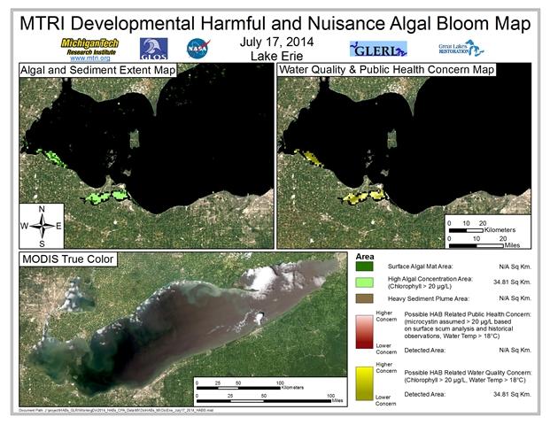 MODIS Aqua retrieval from July 17, 2014.