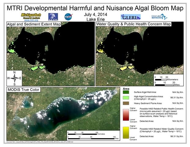 MODIS Aqua retrieval from July 4, 2014.