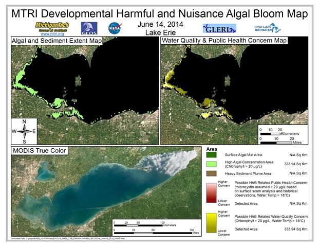 MODIS Aqua retrieval from June 14, 2014.