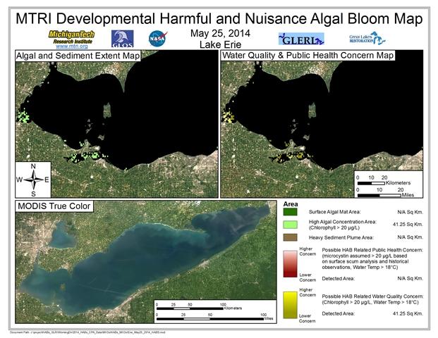 MODIS Aqua retrieval from May 25, 2014.