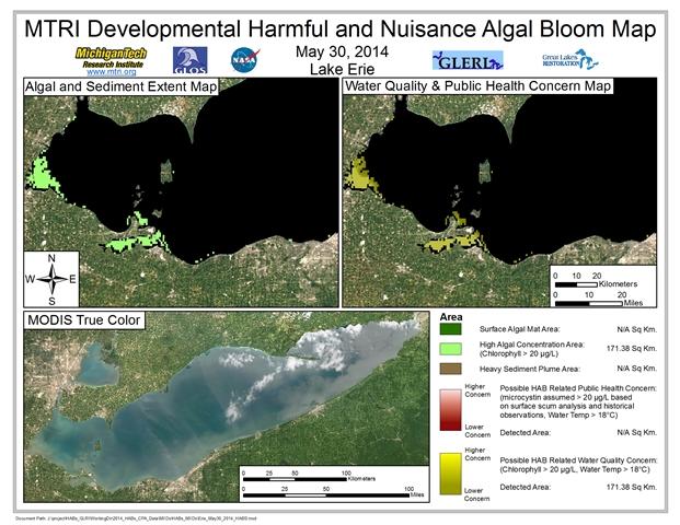 MODIS Aqua retrieval from May 30, 2014.