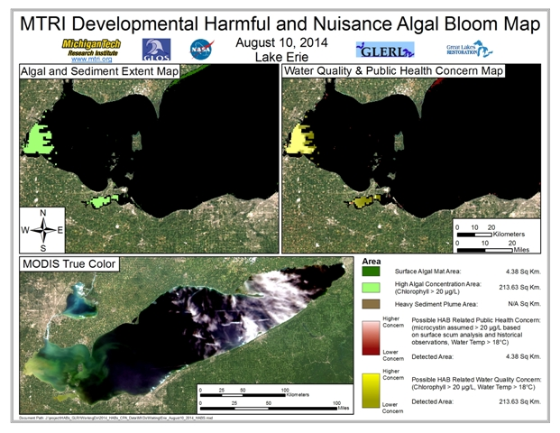 MODIS Aqua retrieval from August 10, 2014.