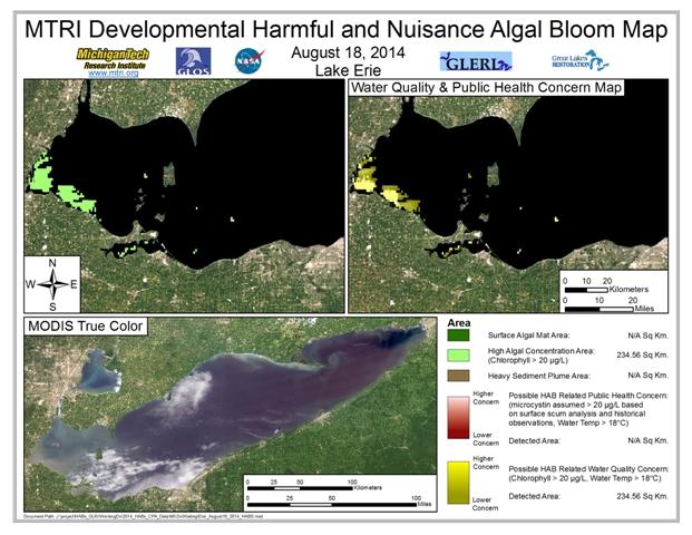 MODIS Aqua retrieval from August 18, 2014.
