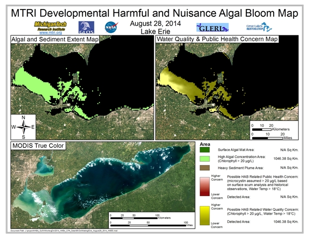 MODIS Aqua retrieval from August 28, 2014.