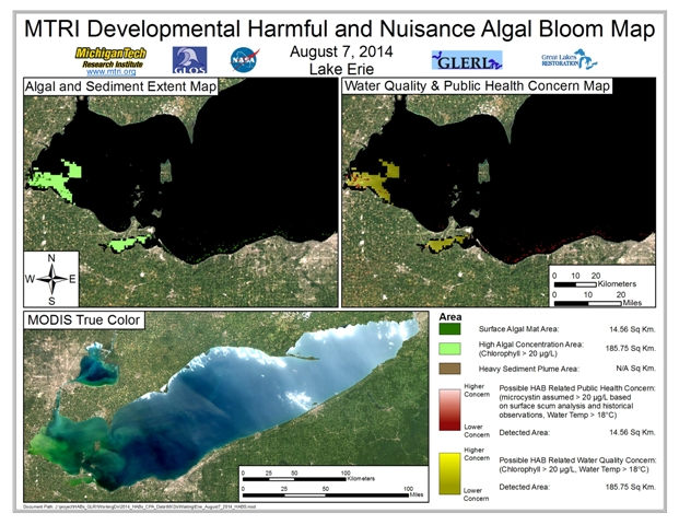 MODIS Aqua retrieval from August 7, 2014.