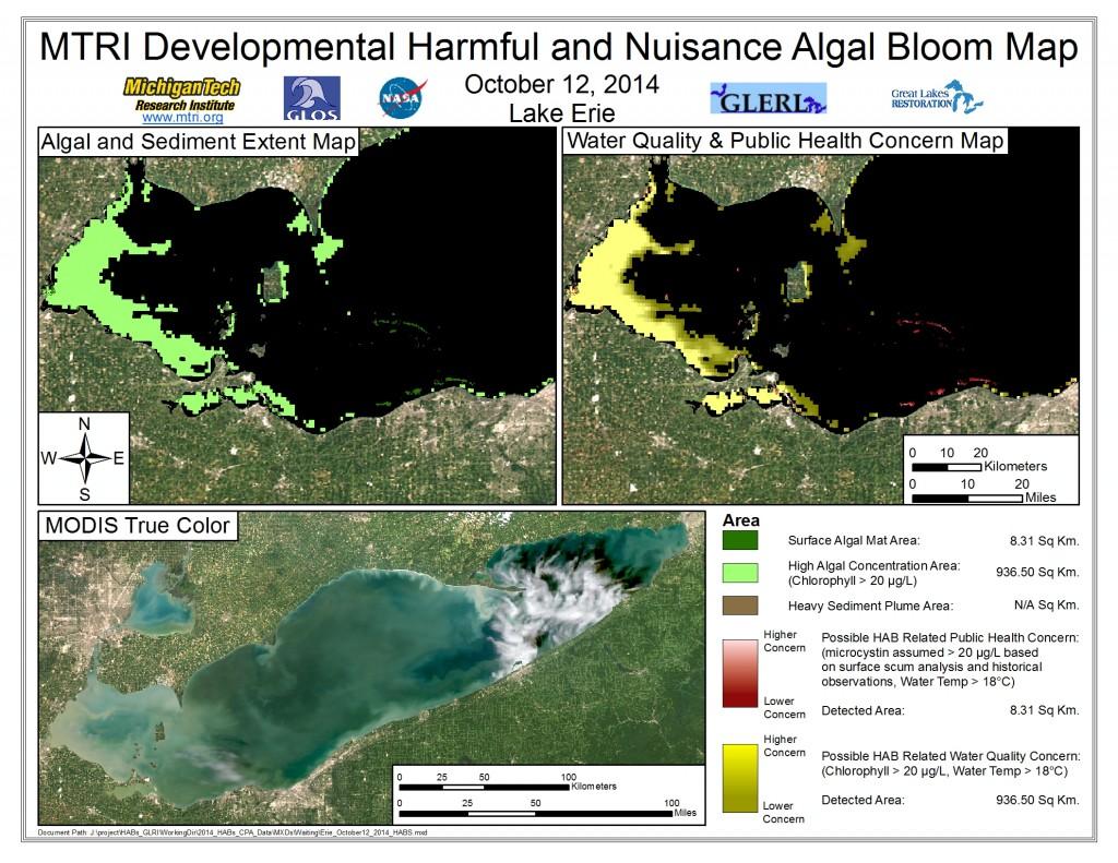 MODIS Aqua retrieval October 12, 2014