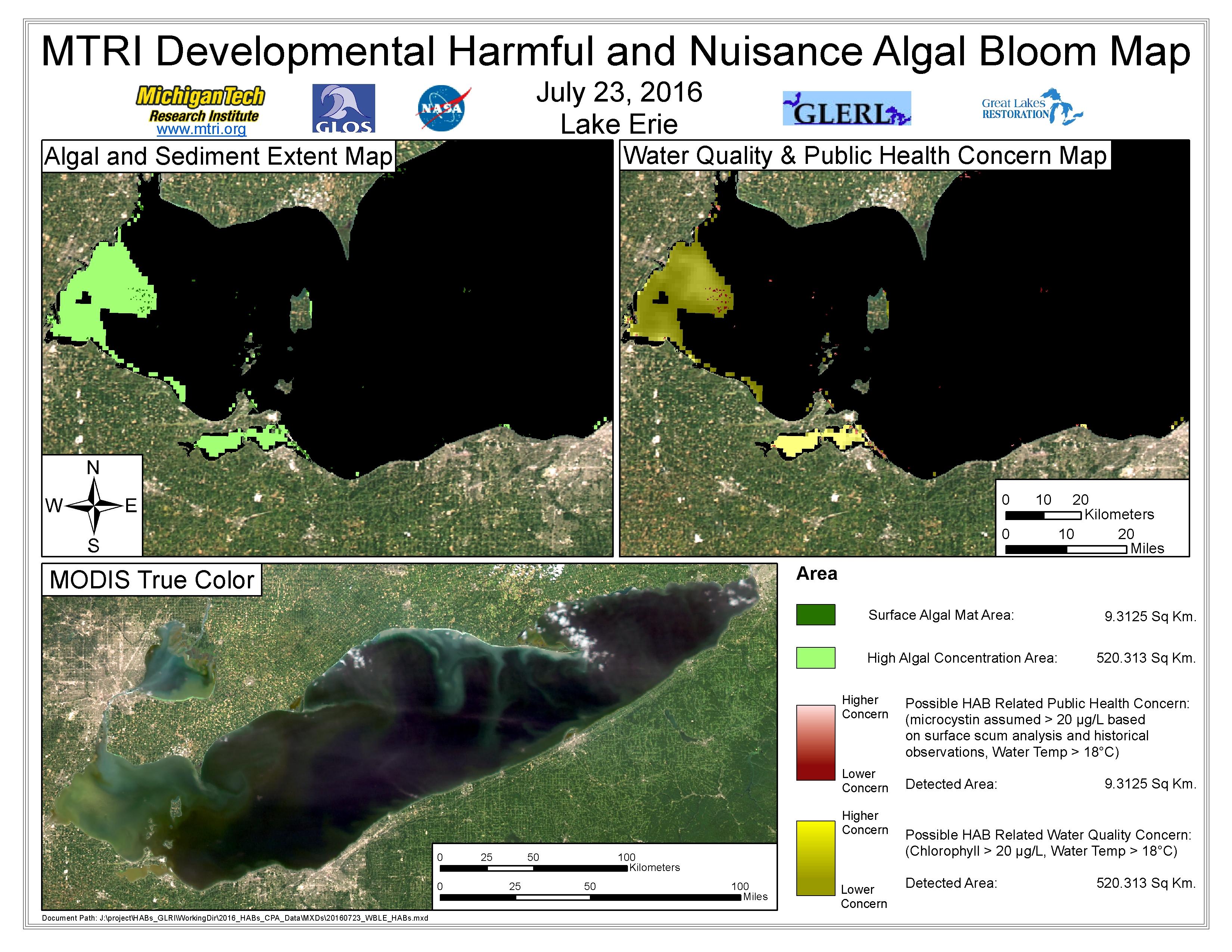 MODIS Aqua retrieval July 23, 2016