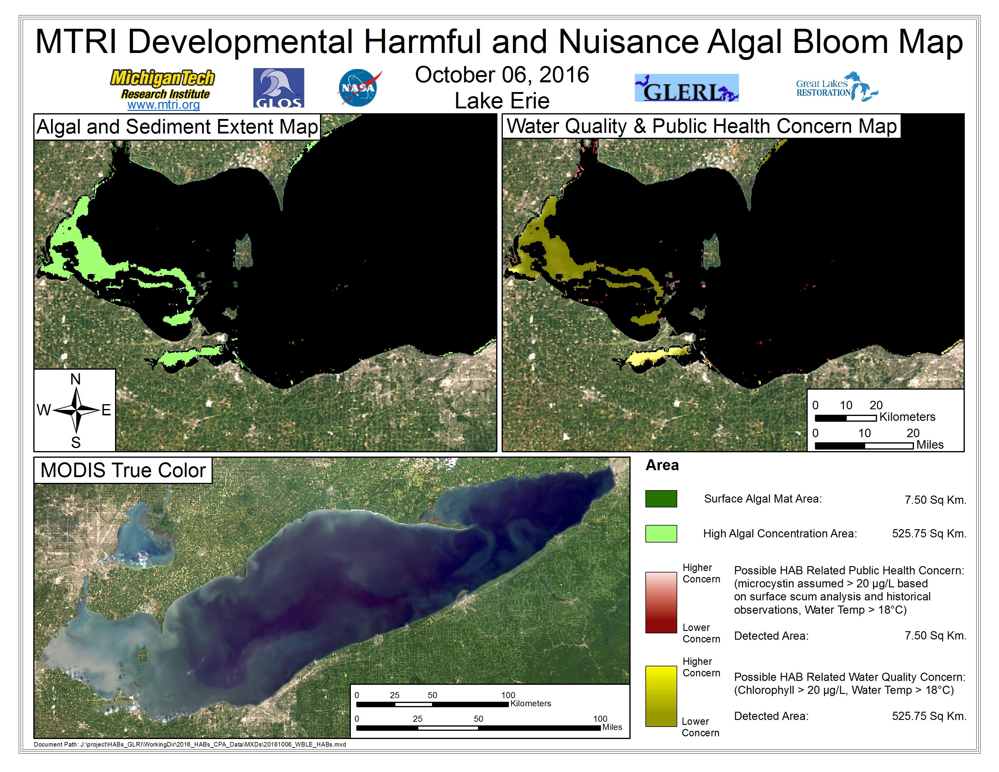 MODIS Aqua retrieval October 06, 2016